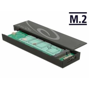 Kõvakettakarp M.2 SSD 42/60/80mm kettale, USB 3.1 Micro-B sisend, tööriistavaba