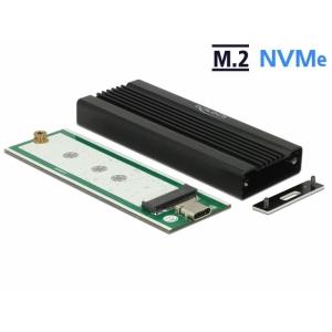 Kõvakettakarp M.2 NVMe PCIe SSD kettale, USB-C sisend, metallist karp, isekleepuva termopadjaga