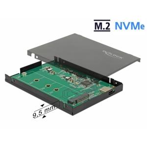 Kõvakettakarp M.2 NVMe PCIe SSD kettale, USB-C sisend, metallist karp