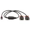 Konverter USB 2.0 > 2 x RS-232