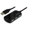 USB 2.0 hub: 4 porti, pikenduskaabel 8.0m + 5V 2A toiteplokk