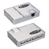 USB pikendaja läbi CAT5e/6 kuni 50m + USB hub: 4 porti