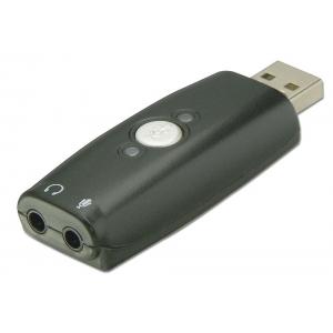 Audio üleminek: USB 2.0 A (M) - 2x 3.5 (F), kõrvaklappide ja mikrofoni ühendamiseks