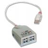 USB 2.0 hub: 4 porti 0.6m kaabel + toiteplokk