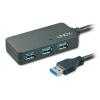 USB 3.0 hub: 4 porti, Active 10.0m pikenduskaabel