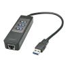 USB 3.1 hub: USB A - 3 porti USB A + LAN Gigabit...