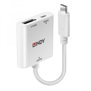 Konverter USB-C (M) - DisplayPort 4K 3840x2160@60Hz  0.15m, valge