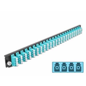 FO eemaldatav esipaneel 24xLC Quad 19´´ multimode adapteritega OM3