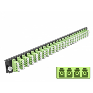 FO eemaldatav esipaneel 24xLC Quad 19´´ multimode adapteritega OM5