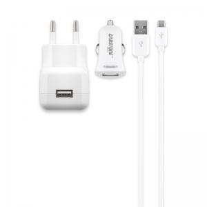 Micro USB laadija komplekt, 100-240 V, 2100 mA