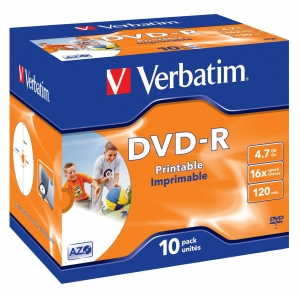 DVD-R toorik 4,7GB, Verbatim AZO, paks karp, 1-16X, 10tk