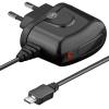 Micro USB laadija, 100 - 240V > 5V 2A kaabli pikkus 1.5m, must