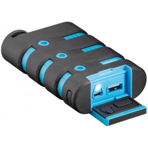 Akupank: 1xUSB 2.1A, 10050mAh, põrutus ja veekindel (IP67), taskulambi funktsioon (laeb kuni 4 nutitelefoni)