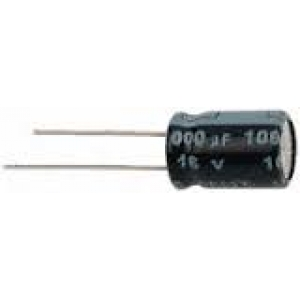 Elektrolüüt kondensaator 10uF 100V 85°C 6.3x11mm