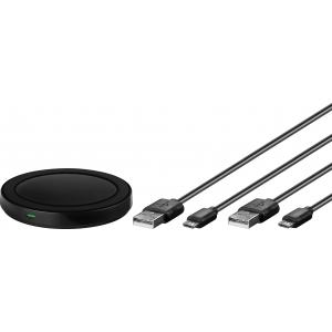 Traadita USB laadimisalus (QI standard) 5V 1A + USB Micro B kaablid 0.3m ja 1.5m