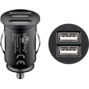 USB Autolaadija, 2x USB, 2.4A 12V/24V