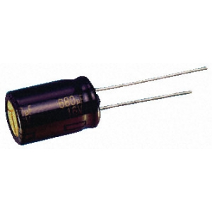 Elektrolüüt kondensaator 22uF 25V 105°C 5x7mm
