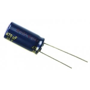 Elektrolüüt kondensaator 470uF 35V 105°C 3000h 10x20mm, Panasonic FC seeria