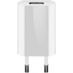 USB laadija 100-240V > 5V 1A, 1 USB port, slim, valge