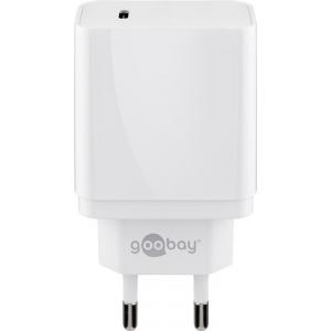 USB laadija 1xUSB-C, 100 - 240V > 5V 2A 18W, valge
