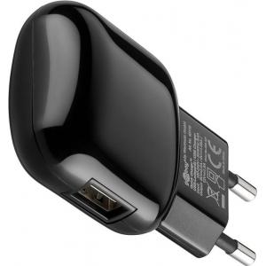 USB laadija, 100-240V > 5V 2A, 1 USB port (QC 3.0 kiirlaadija - Qualcomm / Snapdragon), must