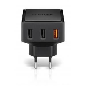 3x USB laadija (USB A QC3.0/2xUSB C) 12V/24V (6000mA) Qualcomm kiirlaadimine 3.0