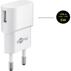 USB laadija 1xUSB + Apple Lightning kaabel 1.0m, valge