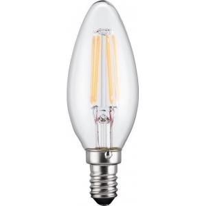 LED pirn, E14 sokliga, 230V pingele, 37W, 450 lm (küünal)