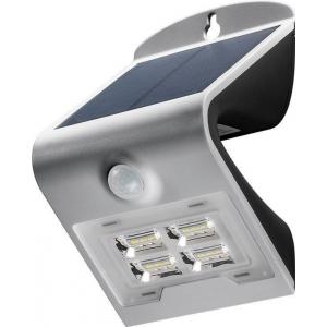 LED valgusti, liikumisandur, päikesepaneel, 27W, 260lm, IP65, aku kuni 30h, hall