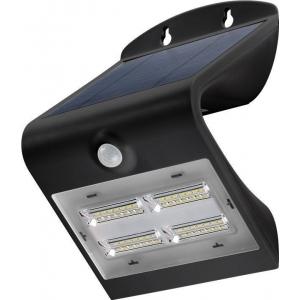 LED valgusti, liikumisandur, päikesepaneel, 38W, 400lm, IP65, aku kuni 30h, must