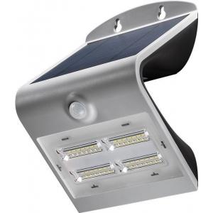 LED valgusti, liikumisandur, päikesepaneel, 38W, 400lm, IP65, aku kuni 30h, hall