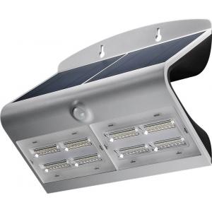 LED valgusti, liikumisandur, päikesepaneel, 64W, 800lm, IP65, aku kuni 30h, hall