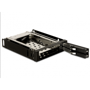 Mobile Rack HDD/SSD paigaldamiseks: 2 x 2.5″ HHD/SSD, hotswap, 3.5″