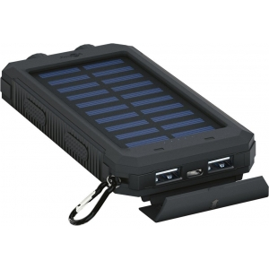 Akupank: 2xUSB 2.0A, 8000mAh, pritsmekindel (IP45, taskulambi funktsioon, kompass, päikesepaneel