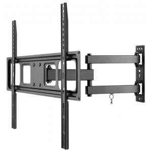 """TV seinakinnitus FULLMOTION (L), väljaulatuv 63-427mm, 37""""-70"""", keeratav ja pööratav, kuni 35kg, must"""