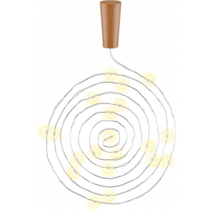 LED valgusti pudelikorgiga 20xLED, 10tk