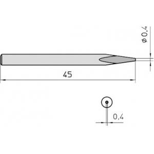 S31 kolviots 0,4mm WHS40