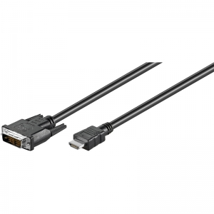 HDMI - DVI-D Single Link kaabel 1.0m, 1080p (sign suund DVI > HDMI)