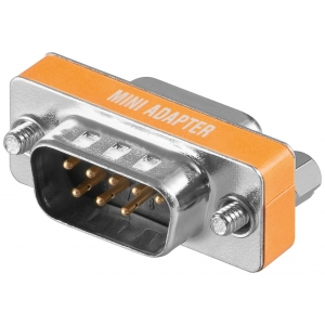 Adapter DB9F - DB9M Mini (Nullmodem)
