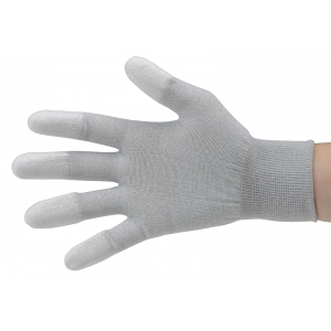 ESD kindad, sõrmekaitsmetega, hall, M