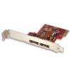 eSATA 3 PCIe kaart, 2 porti (6Gbit/s) Marvell 9128 Kiibiga, välised eSATA-d