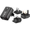 USB laadija + 3 adapterit, 100-240VAC 60/50Hz, 1000mAh 5,2V