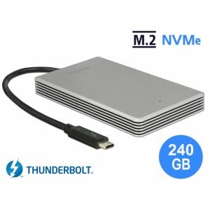 Väline kõvaketas 240 GB SSD, m.2 PCIe NVMe, Thunderbolt 3 USB-C kaabliga