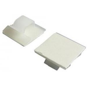 Kaablifiksaator 26x26mm, valge, ümarkaablile 8mm,