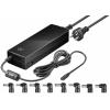 Universaalne toiteplokk, 12-24V, 8.5A, USB + 8DC adapterit, 150W, Must