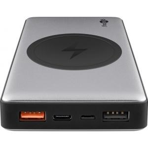 Akupank: 2xUSB 2.0A, 1xUSB-C, 10000mAh, Li-Po, wireless