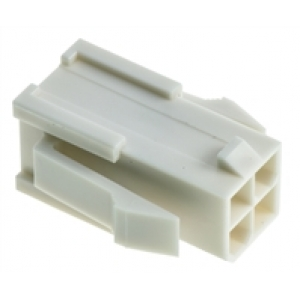 Mini-Fit Jr 4ne pistik paneelile 4,2mm 2rida / 39-01-2041