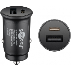 USB Autolaadija 1xUSB-C (PD), 1xUSB QC3.0, 3A 12V/24V