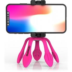 GekkoPod, paindlik statiiv Bluetooth kaugjuhitava puldiga, roosa