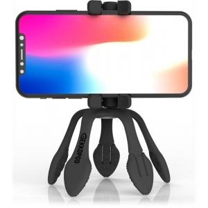 GekkoPod, paindlik statiiv Bluetooth kaugjuhitava puldiga, must